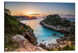 Aluminium print  Sunrise with beautiful bay, Majorca, Spain - Dennis Fischer