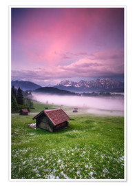 Premium poster Sunset in the Alps, Germany, Karwendel