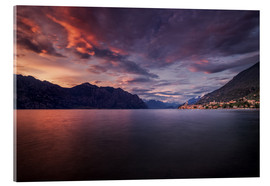 Acrylic print  Sunset at Lake Garda with view on Malcesine - Dennis Fischer