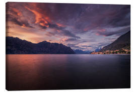 Canvas print  Sunset at Lake Garda with view on Malcesine - Dennis Fischer