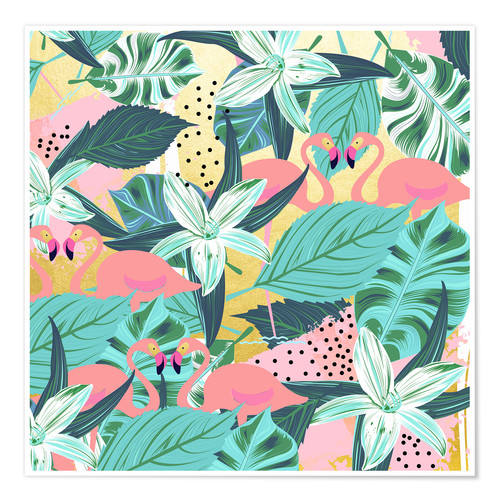 Premium poster Flamingo Tropical