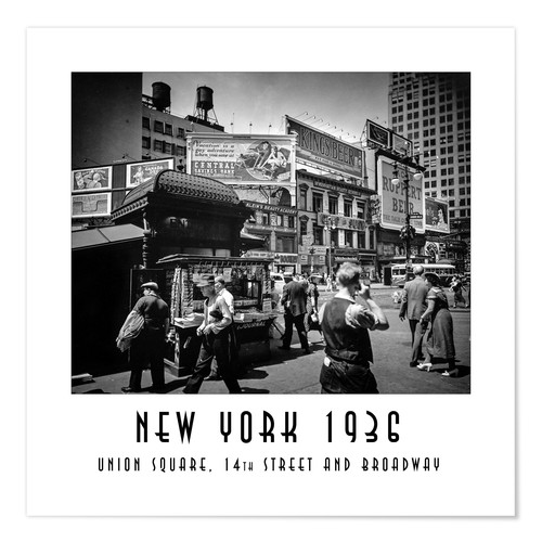Premium poster Historic New York: Union Square, 14th Street and Broadway