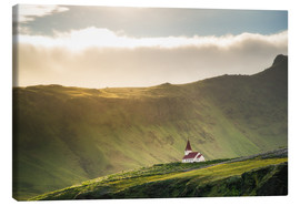 Canvas print  Church in the light, Iceland - Dennis Fischer
