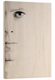 Wood  David Bowie Minimal Portrait - Ileana Hunter