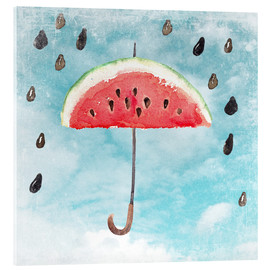Acrylic glass  Summery fruity melon rain - UtArt