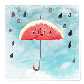 Poster  Summery fruity melon rain - UtArt