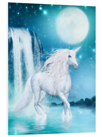 Forex  Unicorn - Waterfalls and Moon - Dolphins DreamDesign