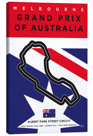 Canvas print  My F1 MELBOURNE Race Track Minimal Poster - chungkong