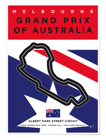 Poster  My F1 MELBOURNE Race Track Minimal Poster - chungkong