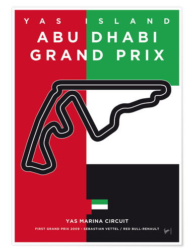 Premium poster My F1 YAS MARINA Race Track Minimal Poster