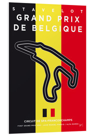 Forex  My F1 FRANCORCHAMPS Race Track Minimal Poster - chungkong