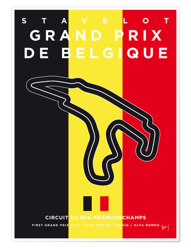 Premium poster My F1 FRANCORCHAMPS Race Track Minimal Poster