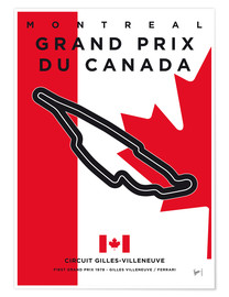 Poster  My F1 GILLES VILLENEUVE Race Track Minimal Poster - chungkong