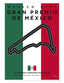 Premium poster My F1 Mexico Race Track Minimal Poster