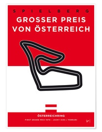 Premium poster My F1 Osterreichring Race Track Minimal Poster