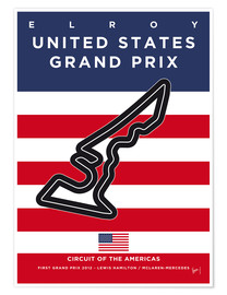 Poster  My F1 AMERICAS Race Track Minimal Poster - chungkong
