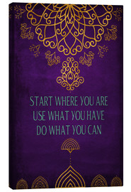 Canvas print  Do what you can - Sybille Sterk
