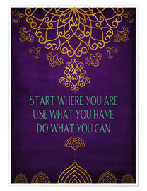 Premium poster  Do what you can - Sybille Sterk