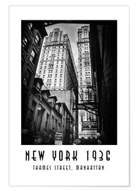 Premium poster Historic New York: Thames Street, Manhattan