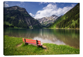 Canvas print  Mountain lake in the Allgäu - Dennis Fischer