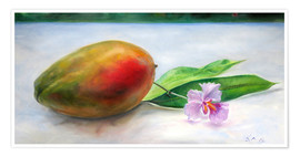 Premium poster Mango and orchid