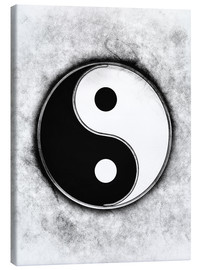 Canvas  Yin Yang - Black & White - Dirk Czarnota