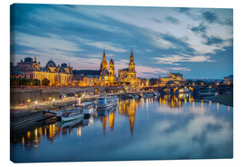 Canvas print  Old Town Dresden at night - Sabine Wagner