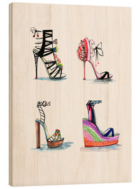 Wood print  Designer shoes - Rongrong DeVoe