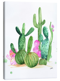 Canvas  Cactus watercolor - Rongrong DeVoe