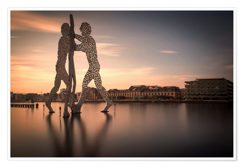 Premium poster Molecule Men river Spree