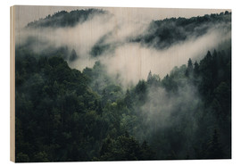 Wood print  Mystic forests in fog - Oliver Henze