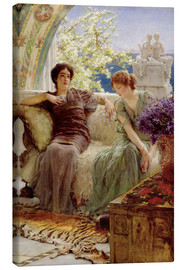 Canvas print  Unwelcome Confidence - Lawrence Alma-Tadema