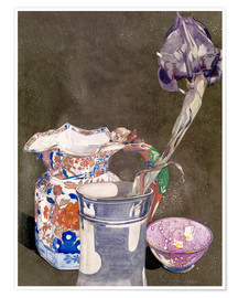 Premium poster  Grey Iris - Charles Rennie Mackintosh