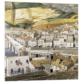 Foam board print  Port Vendres - Charles Rennie Mackintosh