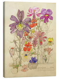 Canvas print  Butterfly Flower, Bowling - Charles Rennie Mackintosh
