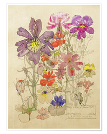 Premium poster  Butterfly Flower, Bowling - Charles Rennie Mackintosh