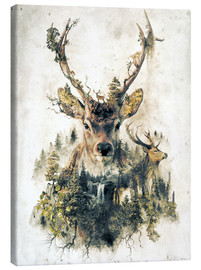 Canvas  Deer Nature Surrealism - Barrett Biggers
