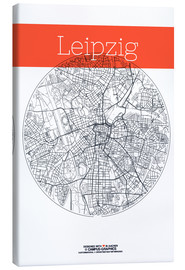 Canvas print  Leipzig map circle - campus graphics