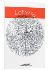 Foam board print  Leipzig map circle - campus graphics