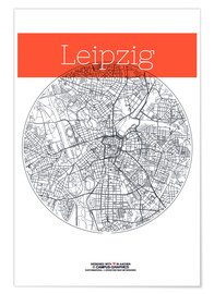campus graphics - Leipzig map city map
