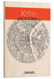 Wood  Cologne city map - campus graphics
