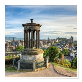 Poster Edinburgh Scotland View from Calton Hill