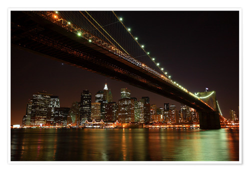 Premium poster Manhattan Skyline, New York, United States