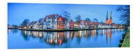 Forex  Panoramic of Lubeck reflected in river Trave, Germany - Roberto Sysa Moiola