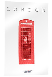 Acrylic print  City of London Telephone Booth - campus graphics