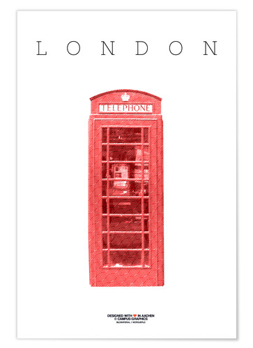 Premium poster City of London Telephone Booth