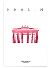 Premium poster City of Berlin Brandenburg Gate