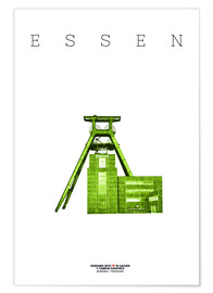 Poster  Essen City Colliery Zollverein - campus graphics