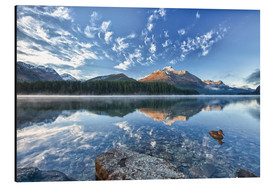 Aluminium print  Sunrise at Lake Sils, Engadine, Switzerland - Roberto Sysa Moiola