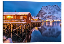 Canvas print  Dusk on typical Rorbu, Reine, Norway - Roberto Sysa Moiola
